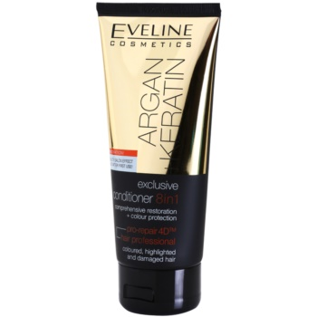 Eveline Cosmetics Argan + Keratin balsamo 8 in 1 Comprehensive Restoration + Colour Protection (Coloured, Highligted and Damaged Hair) 200 ml