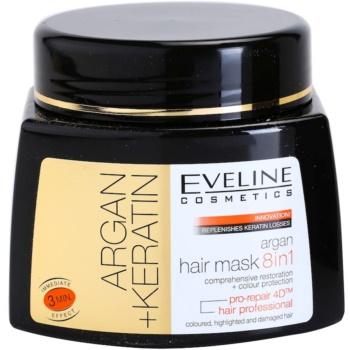 Eveline Cosmetics Argan + Keratin maschera per capelli 8 in 1 500 ml