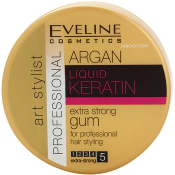Eveline Cosmetics Argan + Keratin elastico per capelli extra-forte per capelli (Extra Strong 5) 100 g