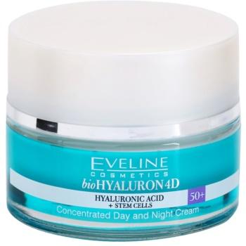 Eveline Cosmetics BioHyaluron 4D crema giorno e notte 50+ SPF 8 (Concentrated Day and Night Cream) 50 ml