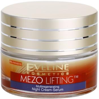 Eveline Cosmetics Mezo Lifting crema-siero notte multi-rigenerante (Fills in Wrinkles) 50 ml