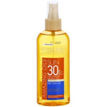 Eveline Cosmetics Sun Care olio abbronzante in spray SPF 30 (Macadamia and Kukui Oils) 150 ml