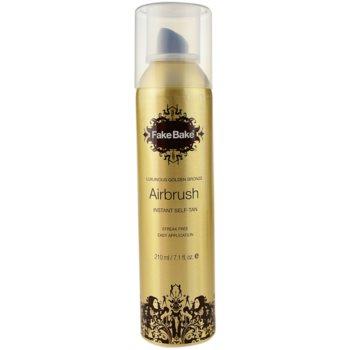 Fake Bake Airbrush spray autoabbronzante colore Golden Bronze (Instant Self-tan) 210 ml