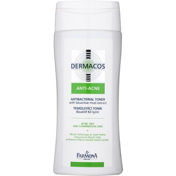 Farmona Dermacos Anti-Acne tonico antibatterico contro i pori dilatati (Bioactive Mud Extract) 150 ml