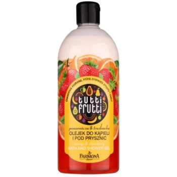 Farmona Tutti Frutti Orange & Strawberry olio in gel per doccia e bagno (Orangise your Day) 500 ml