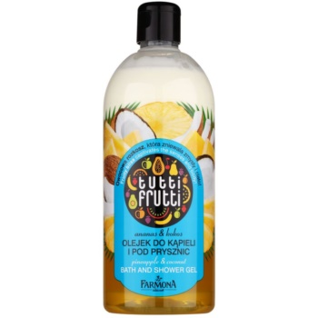 Farmona Tutti Frutti Pineapple & Coconut olio in gel per doccia e bagno (Pineapple Energy with Thousand Coco-Volts) 500 ml