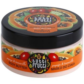 Farmona Tutti Frutti Papaja & Tamarillo burro corpo (Fruity Bliss Captivates the Senses and Body) 275 ml