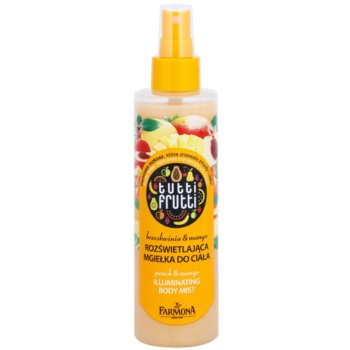 Farmona Tutti Frutti Peach & Mango spray corpo brillante effetto lisciante e nutriente (Illuminating Body Mist) 200 ml