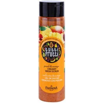 Farmona Tutti Frutti Peach & Mango scrub in crema da doccia (Fruity Bliss Captivates the Senses and Body) 250 ml