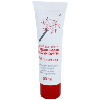 FlosLek Laboratorium Dilated Capillaries maschera gel notte per ridurre i rossori (Horse Chestnut, Arnica, Wild Pansy) 50 ml