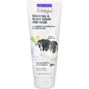 Freeman Feeling Beautiful maschera di fango per pelli normali e miste Charcoal & Black Sugar (Mud Mask) 175 ml