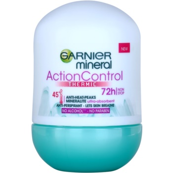 Garnier Mineral Action Control Thermic antitraspirante roll-on (Mineralite Ultra-Absorbent 72h) 50 ml