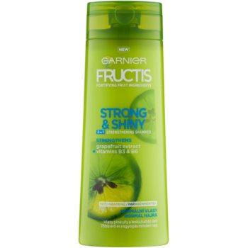 Garnier Fructis Strong & Shiny 2in1 shampoo rinforzante per capelli normali (Fortifying Shampoo) 250 ml