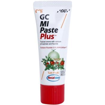 GC MI Paste Plus Tutti-Frutti crema rimineralizzante protettiva per denti sensibili al fluoro per uso professionale (Topical Creme with Calcium, Phosphate and Fluoride) 35 ml