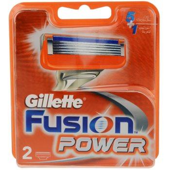 Gillette Fusion Power lame di ricambio (Spare Blades) 2 pz