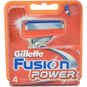 Gillette Fusion Power lame di ricambio (Spare Blades) 4 pz