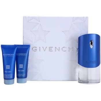 Givenchy Pour Homme Blue Label kit regalo II eau de toilette 100 ml + balsamo post-rasatura 75 ml + gel doccia 75 ml