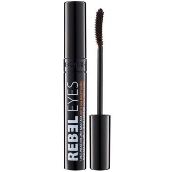 Gosh Rebel Eyes mascara per ciglia voluminose e separate colore 001 Black 10 ml