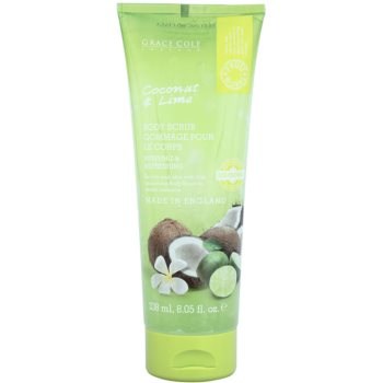Grace Cole Fruit Works Coconut & Lime scrub rinfrescante corpo (Reviving & Refreshing) 238 ml