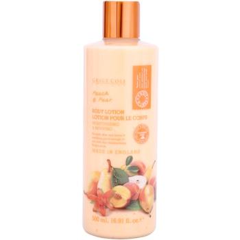 Grace Cole Fruit Works Peach & Pear latte idratante corpo senza parabeni (Moisturising & Reviving) 500 ml