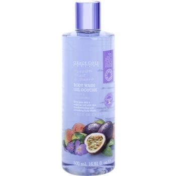 Grace Cole Fruit Works Passion Fruit & Guava gel doccia rinfrescante senza parabeni (Fresh & Cleansing) 500 ml