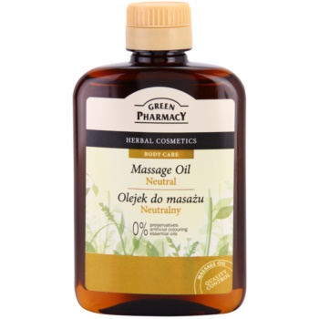 Green Pharmacy Body Care olio per massaggi Neutral (0% Preservatives, Artificial Colouring, Essential Oils) 200 ml