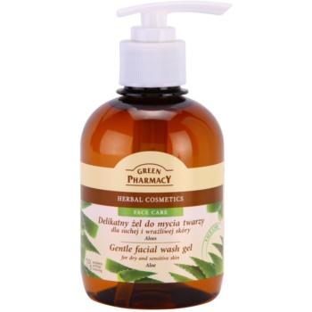 Green Pharmacy Face Care Aloe gel detergente delicato per pelli sensibili e secche (0% Parabens, Artificial Colouring) 270 ml