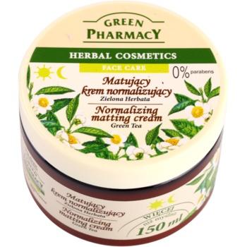 Green Pharmacy Face Care Green Tea crema opacizzante per pelli miste e grasse (0% Parabens) 150 ml