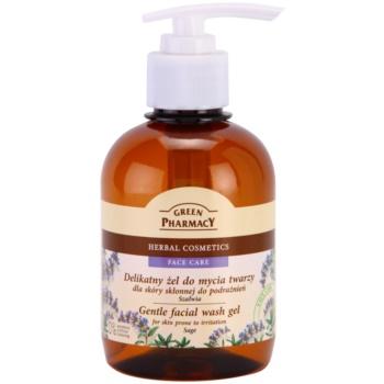 Green Pharmacy Face Care Sage gel detergente delicato per pelli con tendenza alle irritazioni (0% Parabens, Artificial Colouring) 270 ml