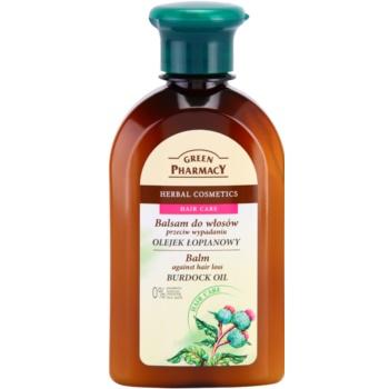 Green Pharmacy Hair Care Burdock Oil balsamo anti-caduta dei capelli (0% Parabens, Artificial Colouring, SLS, SLES) 300 ml