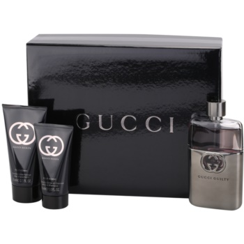 Gucci Guilty Pour Homme kit regalo VI eau de toilette 90 ml + balsamo post-rasatura 75 ml + gel doccia 50 ml