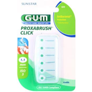 G.U.M Proxabrush Click blister di scovolini interdentali di ricambio 6 pz 1,1 mm (Refills)