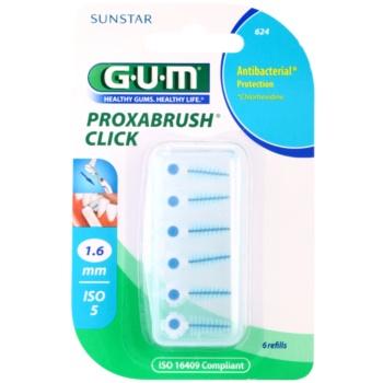 G.U.M Proxabrush Click blister di scovolini interdentali di ricambio 6 pz 1,6 mm (Refills)