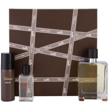 Hermès Terre D'Hermes kit regalo XI eau de toilette 100 ml + schiuma da barba 50 ml + lozione after-shave 40 ml