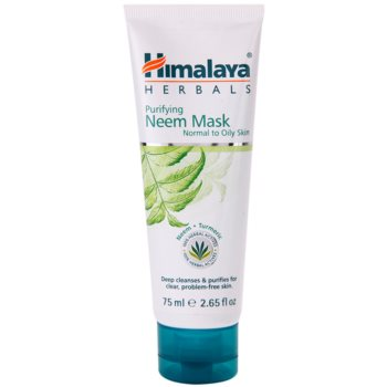 Himalaya Herbals Face Care Masks maschera detergente viso per pelli normali e grasse (With Neem And Turmeric) 75 ml