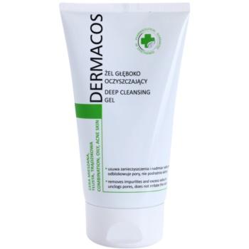 Ideepharm Dermacos Combination Oily Acne Skin gel di pulizia profonda contro la pelle lucida e i pori dilatati 150 ml