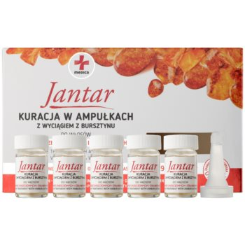 Ideepharm Medica Jantar trattamento rigenerante per capelli rovinati e fragili (Amber Extract) 5 x 5 ml
