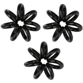 InvisiBobble Nano elastico per capelli 3 pz True Black (Styling Hair Rings)