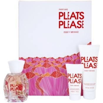 Issey Miyake Pleats Please (2012) kit regalo I eau de toilette 50 ml + latte corpo 75 ml + gel doccia 30 ml