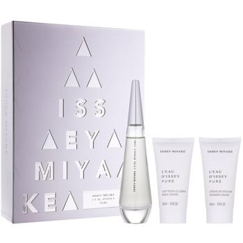Issey Miyake L'Eau D'Issey Pure kit regalo II eau de parfum 50 ml + latte corpo 50 ml + gel doccia 50 ml