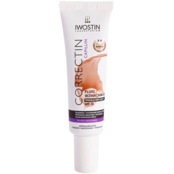 Iwostin Capillin Correctin lozione coprente rinforzante lunga durata per pelli con tendenza all'arrossamento SPF 30 colore Natural 30 ml
