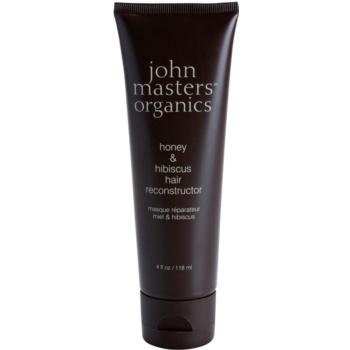 John Masters Organics Honey & Hibiscus maschera rigenerante per capelli più forti 118 ml