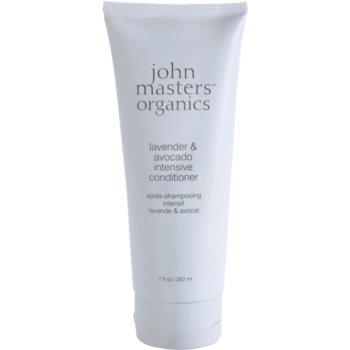 John Masters Organics Lavender & Avocado balsamo intenso per capelli rovinati e secchi 207 ml