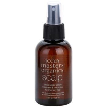 John Masters Organics Scalp spray per una crescita sana dei capelli fin dalle radici (Deep Scalp Follicle Treatment & Volumizer for Thinning Hair) 125 ml