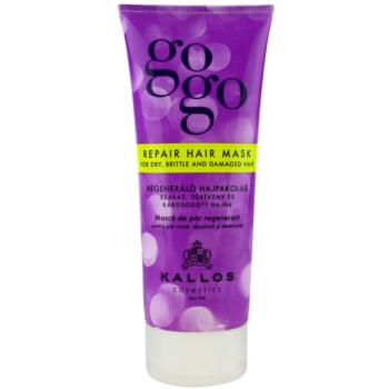 Kallos Gogo maschera rigenerante per capelli rovinati e secchi (Repair Hair Mask for Dry, Brittle and Damaged Hair) 200 ml