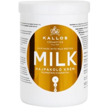 Kallos KJMN maschera con proteine del latte (Hair Mask with Milk Protein) 1000 ml
