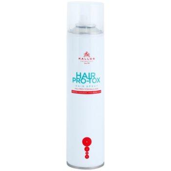 Kallos KJMN lacca per capelli rovinati e secchi (Hair Botox Hair Spray with Keratin, Collagen and Hyaluronic Acid) 400 ml