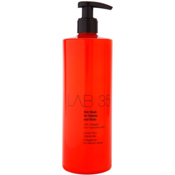 Kallos LAB 35 maschera per capelli per volume e brillantezza (Hair Mask for Volume and Gloss with Collagen and Hyaluronic Acid) 500 ml
