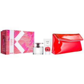 Kenzo Flower In The Air kit regalo V eau de parfum 100 ml + latte corpo 50 ml + borsa