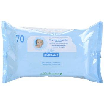 Klorane Bébé salviette detergenti per bambini (Gentle Cleansing Wipes) 70 pz